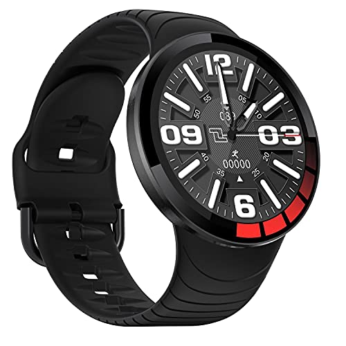 Deportes Smart Watch Men IP68 Impermeable Pantalla táctil Completa Correa de Silicona Smartwatch para Android iOS Teléfono Fitness