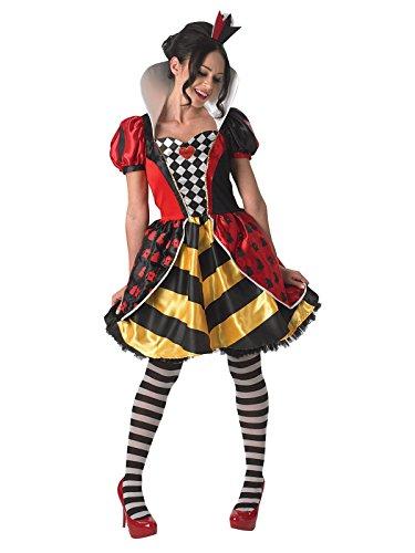 KULTFAKTOR GmbH Disney Alice im Wunderland Herzkönigin Damenkostüm Lizenzware bunt S