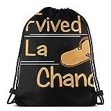 J'Ai survécu à La Chancla drôle Humour Mamans mexicaines Latino M Sac à Cordon Sport n Sac Sac de Voyage Sac Cadeau