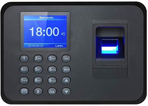 "2.4"" TFT USB Máquina de Asistencia Biométrica de Huella Dactilar, Registrador de Cheques del Empleado, LCD Pantalla, Sistema Española"