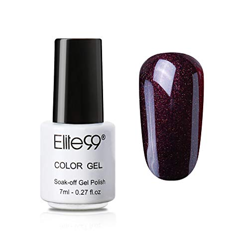 Elite99 Weinrot UV Nagellack, Rot Gellack UV Gel Farbgel, Nagelgel LED Soak Off Gel-Lack 7ML JH033