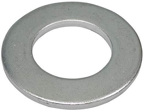 AERZETIX - C44515 - Set mit 10 - Flache Unterlegscheiben - M27 - H3,8 mm - Verzinkter Stahl - Metall - DIN125 - Hardware - DIY