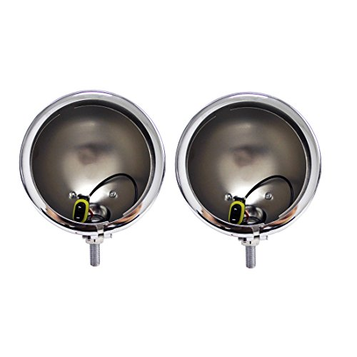 SKTYANTS 4.5 inch Housing Bracket Mount Ring Bucket for Fog Passing Light Lamp Motorcycle Harley Touring Electra(Chrome)