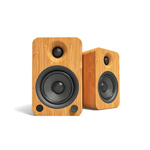Kanto YU4 Powered Speakers with Bluetooth and Phono Preamp - Bamboo