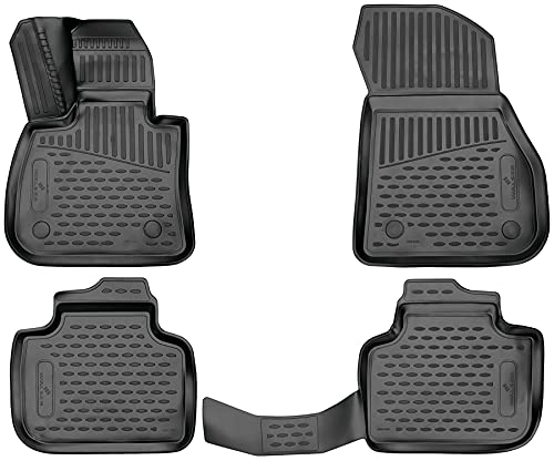 Walser XTR Gummifußmatten kompatibel mit BMW X1 (F48) 11/2014 - Heute, passgenaue Auto Gummimatten, Autofußmatten Gummi