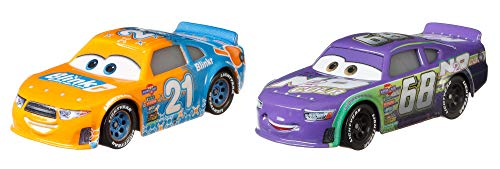 Disney and Pixar Cars Speedy Comet and Parker Brakeston 2-Pack Story Race Toy