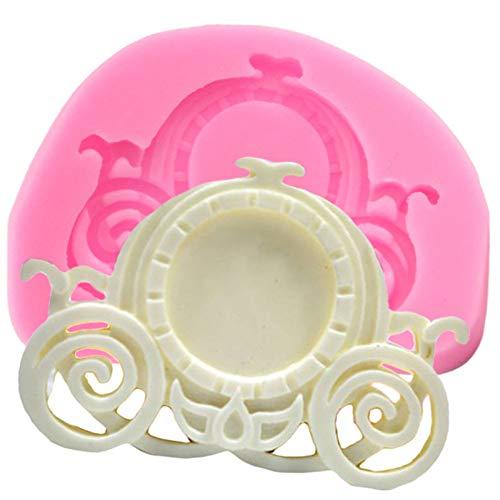 ZHQJY Molde de Silicona para Carro de bebé DIY Herramientas de decoración de Pasteles de cumpleaños para bebés Fondant Moldes de Pasta de Chocolate Molde de Caramelo