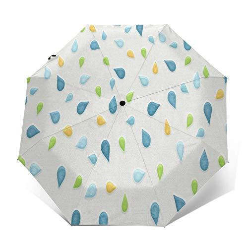 TISAGUER Parapluie de Voyage Automatique Compact,Fond d