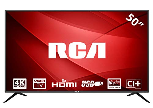 RCA RS50U1: 127 cm (50 Zoll) Smart-TV LED-Fernseher (4K Ultra HD, Triple Tuner, Android 6.0, HDMI, CI+, Mediaplayer per USB 2.0) [Energieklasse A]