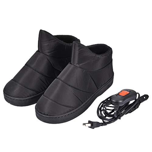 ZY123 Zapatillas calefactables, Zapatos calefactores Antideslizantes Calentador de pies Interior Calzado Calefactor...