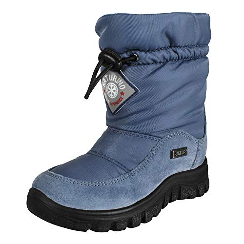 Naturino Unisex Kinder Winterstiefel Varna Jeans (blau), Größe:25