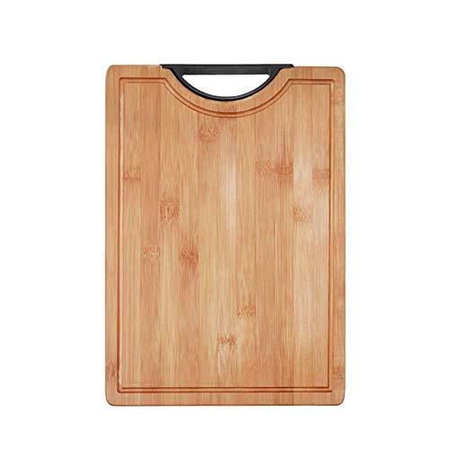 Veiligheid Bamboe Snijplank, massief houten snijplank met wastafel, grote snijplank, Dikke Snijplank gift dljyy (Size : 34 * 24 * 1.8cm)