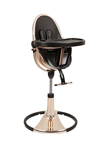 Bloom Fresco Chrome Moderner Kinderhochstuhl Special Edition Rose Gold Black Starterkit Midnight Black 10515-GRB