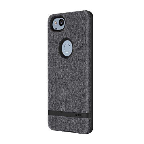 Incipio Carnaby Google Pixel 2 Case [Esquire Series] with Co-Molded Design and Ultra-Soft Cotton Finish for Google Pixel 2 - Gray