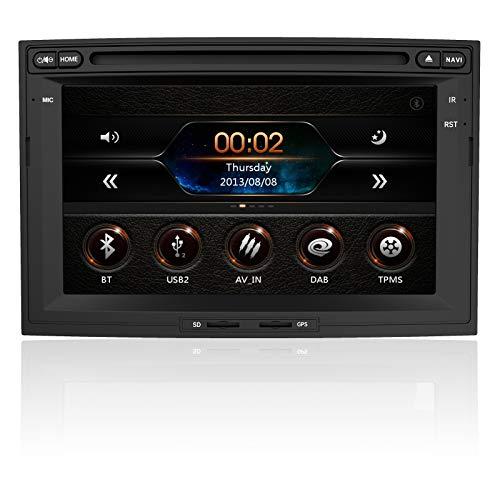 AWESAFE Autoradio Double 2 Din pour Peugeot 3008/5008,Lecteur DVD Bluetooth Stéréo avec Navigation GPS 7' Écran Tactile HD,Support Commande au Volant/Mirrorlink/Appel Bluetooth/FM/Vue Arrière de...