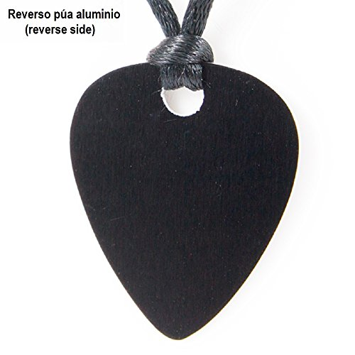 COLGANTE PÚA DE GUITARRA Aluminio Anodizado Negro- Diseño Clave ...