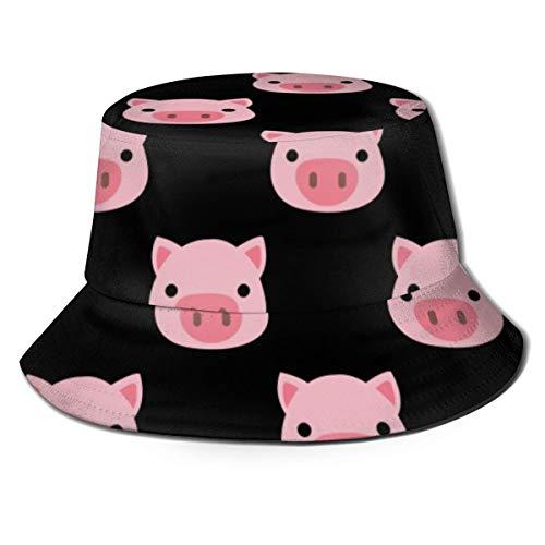 Sombrero Rosado Divertido del Casquillo del Cubo del Viaje del Verano de la Caza de la Pesca de la Cara del Cerdo