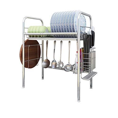 OldPAPA 3-Tier Cocina De Acero Inoxidable Soportes para Platos Dish Drainer Dish Rack Holder Organizaci/ón Estante con Bandeja de Goteo A para Utensilios
