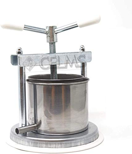 TORCHIETTO Premitutto ZINCATO capacità di Premitura 3kg con Certificazione Alimentare Ferro e Acciaio Inox 430 Made in Italy per Pomodori Melanzane Ortaggi Succhi Frutta e Olio