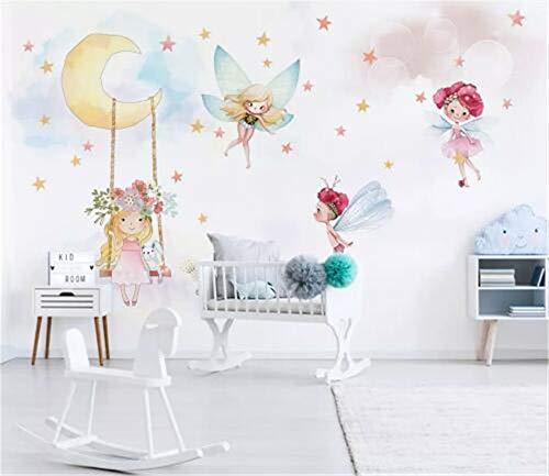 SKTYEE Wallpapers Moderno 3D personalizado Foto infantil Mural Papel pintado Fantasy Elf Respetuoso del medio ambiente No tejido Para niñas Bebé Habitación de niños, 200x140 cm (78.7 por 55.1 pulg.)