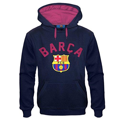 FC Barcelona - Sudadera oficial con capucha - Para hombre - Con el escudo del club - Forro polar