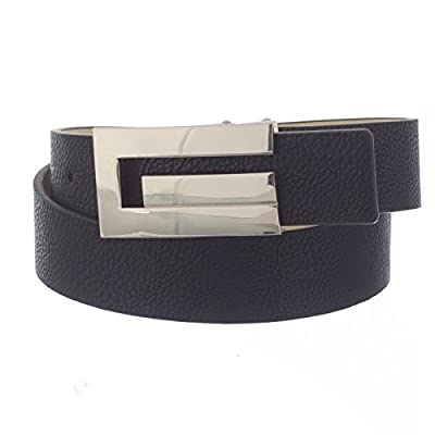 X-CESSOIRE Boys School Uniform Belt with G styled Buckle (Black, 16)