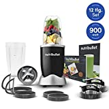 MediaShop NutriBullet Pro 900W schwarz – Mixer mit Extraktor-Klinge macht aus einfachen Lebensmitteln Superfood – Power Standmixer für gesunde Ernährung – 12tlg.