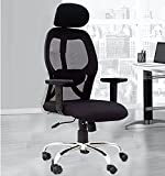 Casa Copenhagen Ergonomic Premium Super Soft Desk Chair High Engineered Frame Durable and Adjustable Office Chair Modern Executive Chair with Armrests Lumbar Support - Black FF08