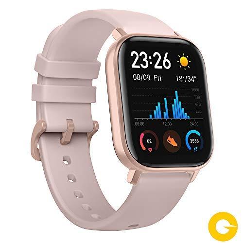 Amazfit GTS Reloj Smartwactch Deportivo, 14 días Batería, GPS+Glonass, Sensor Seguimiento Biológico BioTracker PPG, Frecuencia Cardíaca, Natación, Bluetooth 5.0 (iOS & Android), Color Rosa