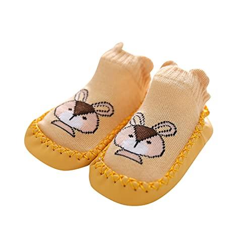 YWLINK Calcetines Antideslizantes para Bebés Algodón Grueso y Cálido Bonitos Calcetines Deportivos para Niños y Niñas Calcetines para Niños Pequeños Adecuados para 0-24 Meses