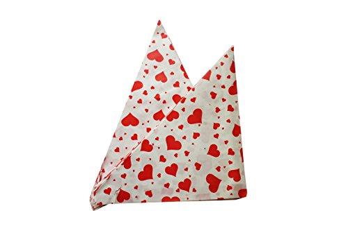 Imbiss- und Partyzubehör Spitztüten aus Papier Herzen Länge ca. 19 cm für ca. 125 g Inhalt (100 Stück, ROT)