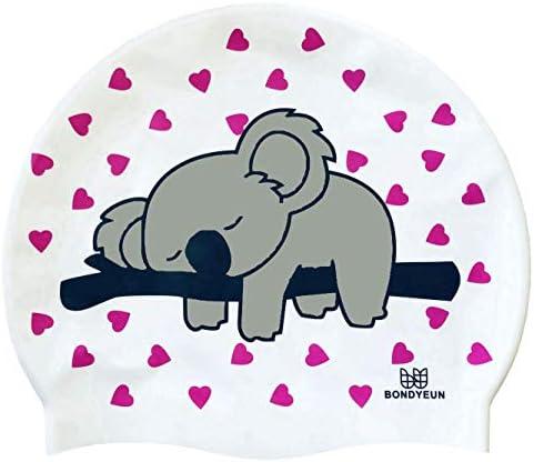 BONDYUEN Unisex Adult Swim Cap Fit Kids Junior Men Women with Short or Medium Hair Lovely Koala product image