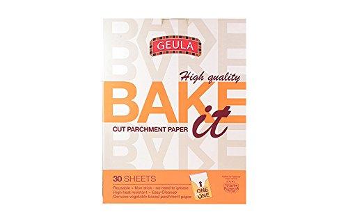 Geula Bake It Cut Parchment Paper 30 Sheets. Pack Of 3.