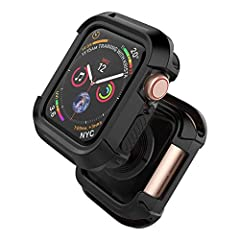 Special Design: Specially designed for New Watch Series 4, all of our watch cases have been pre-tested on Watch Series 4. Please purchase it with confidence Upgrade Material: The Watch 4 case is built with hard TPU and PC, this one is thicker than th...
