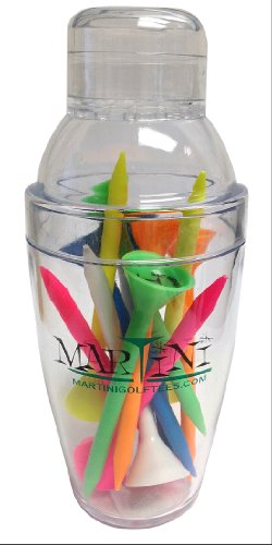 ProActive Sports Martini Golf Mini Shaker with 3-1/4″ Durable Plastic Tees 12-Pack of Assorted Colors
