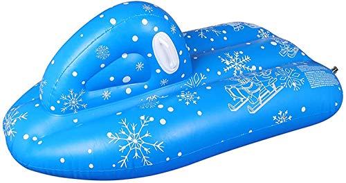 Qdreclod Aufblasbare Schlitten für Kinder Erwachsene 120x68x50cm, Winter Outdoor Schwerlast Aufblasbare Snow Tube mit Griffen, 2 in 1 Absperrventil, Kratzfest, Frostbeständig