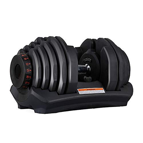 VEICAR 88lbs Adjustable Dumbbell,10lb-88lb Fast Adjust Weight Dumbbell,Training Weights Gym Equipment for Man and Women Exercise Dumbbell (Single)