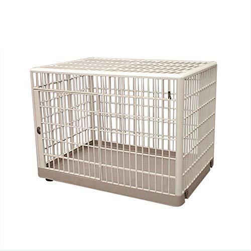 QNMM Hundekiste Zwinger Haustier Käfig Für Reisen Doppeltür Klapp Indoor Outdoor Puppy Laufstall Mit Teiler Und Griff Kunststoffschale