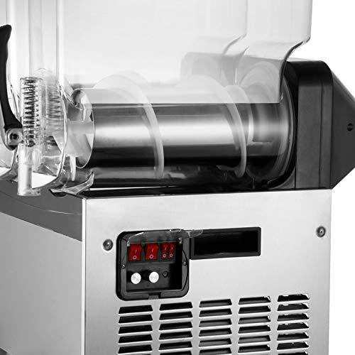 KITGARN Frozen Drink Slush Machine 3x15L Slushy Machine Frozen Drink Slush Making Machine 3 Cylinder Snow Melting…