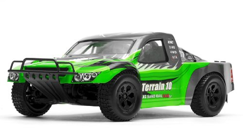 Exceed Racing Terrain 1/10 Scale Short Course Truck Ready to Run 2.4ghz (AA Green)