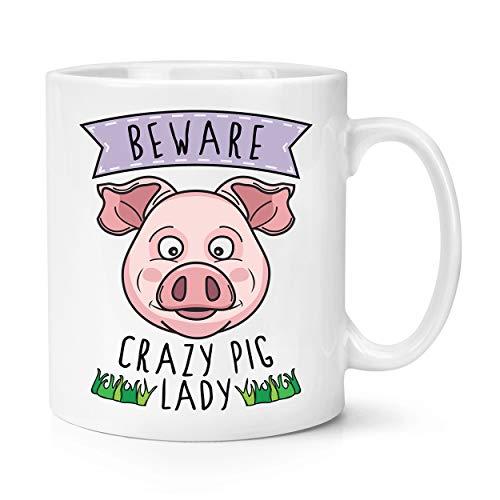 Beware Crazy Pig Lady 10oz Mug Cup