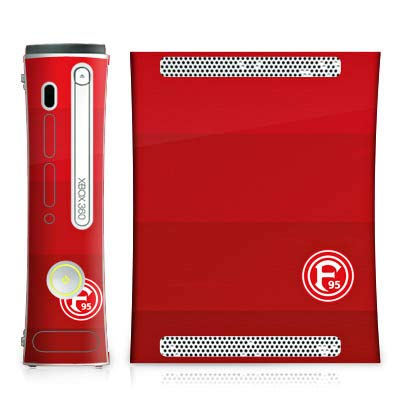 DeinDesign Skin kompatibel mit Microsoft Xbox 360 Aufkleber Folie Sticker Fortuna Düsseldorf Fanartikel Offizielles Lizenzprodukt