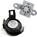 280148 Thermal Cut Off Kit (Upgraded Version) Includes 8557403 Thermostat & 8318314 Thermal Fuse Replacement for Whirlpool Dryers Replaces 1175772 AP3874047 PS991443