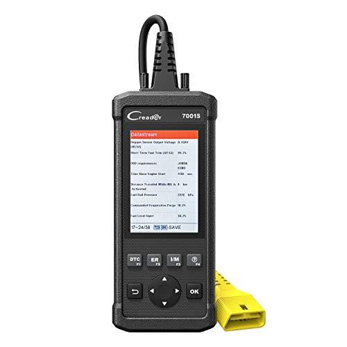 LAUNCH Scanner de Voiture CReader 7001S Outil d'Analyse OBD2/CAN Multi-Usages, Appareil de Diagnostic ABS/SRS avec Service de Rénitialisation d'Huile EPB et Fonctions OBD Complètes