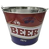 EUROXANTY Cubo para Cervezas | Cubitera Metálico para Botellines y Bebidas | Estructura Fuerte y Resistente | Material Inoxidable | Tricolor |