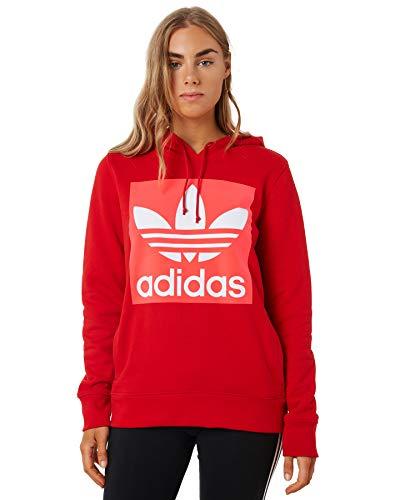 adidas Trefoil Hoodie Sweatshirt, Mujer, Scarlet, 34
