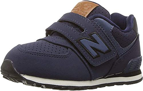 New Balance New Balance, Unisex-Kinder Sneaker, Blau (Blue/black), 25.5 EU (8 UK Child)
