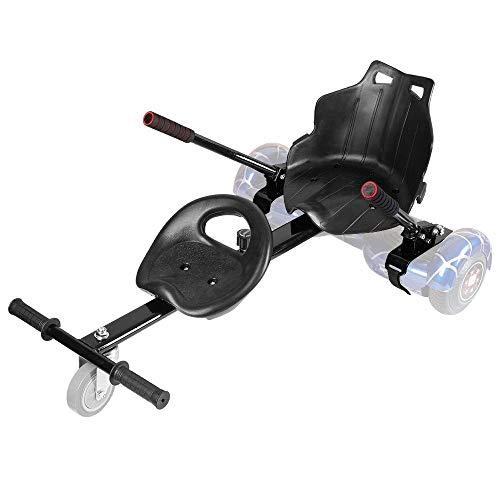 Hoverboard-Kart mit zwei Sitzen, verstellbar, für alle Höhen, jedes Alter, 2 Räder, selbstbalancierender Roller, kompatibel mit allen Hoverboards, wie ein Go-Kart (Hoverkart + Kindersitz)