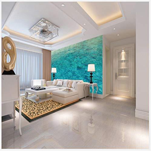 Behang, vlies, 3D-effect, watermodel, groen, wanddecoratie, posters, foto, zelfklevend, voor slaapkamer, hal 250CMx175CM