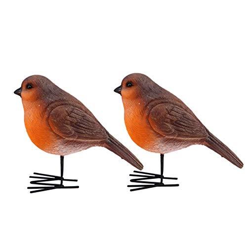 TomaiBaby 2 Piezas Estatuilla de Pájaro Estatuas de Animales de Resina Escultura Artesanías Adornos de Escritorio Decoración para El Jardín del Gabinete del Hogar